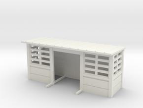 abris quais beton SNCB MNSB TT 1 pc in White Natural Versatile Plastic: 1:120 - TT