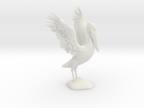 Pelican Model in White Natural Versatile Plastic
