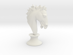 Horse's head in White Natural Versatile Plastic: Extra Large