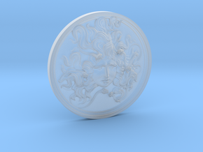 Medusa medal in Smooth Fine Detail Plastic