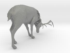 O Scale Grazing Deer in Gray PA12