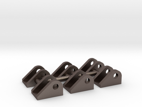 1/50 50-20 ton Excavator Stick Mounts in Polished Bronzed-Silver Steel