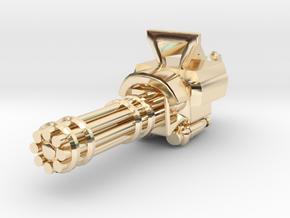 Miniature mini Gun  in 14k Gold Plated Brass