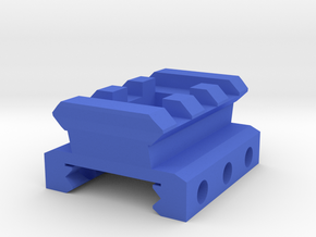 Nerf Rival Rail to Picatinny Rail Adapter (3 Slots in Blue Processed Versatile Plastic