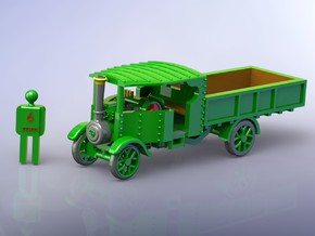 Foden Steam Lorry 1916 1/120 TT in Smooth Fine Detail Plastic