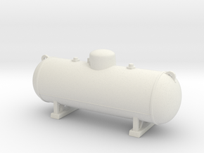 Propane tank 500 gallon. O Scale (1:43) in White Natural Versatile Plastic