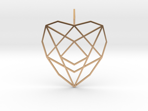 Crystalline Heart Matrix (Flat) in Polished Bronze