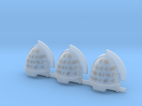 Runes Aggressive shoulder pads R in Smooth Fine Detail Plastic