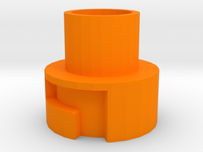 Modulus Barrel Adapter for Nerf Disruptor in Orange Processed Versatile Plastic