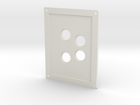 Towing Pin Plate AHT in White Natural Versatile Plastic