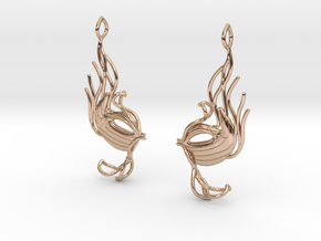 Masquerade fish earring pair in 14k Rose Gold