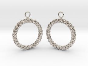 RW Earrings in Rhodium Plated Brass