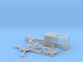 HO/1:87 Man Basket+Glass Handler for Mini Crawler  in Smooth Fine Detail Plastic