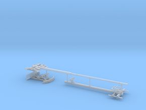 1/87th Expandable steerable Pipe Trailer in Smooth Fine Detail Plastic