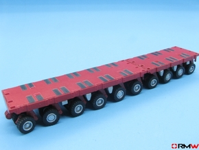 HO/1:87 spmt set 4+6 axles (without ppu) in Smooth Fine Detail Plastic