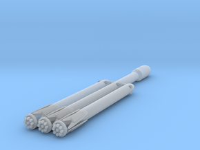 1:600 Miniature SpaceX Falcon Heavy Rocket in Smooth Fine Detail Plastic: 1:600