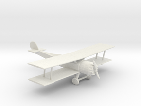 HO Scale Biplane in White Natural Versatile Plastic