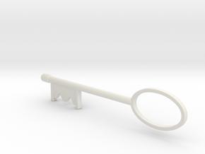 Resident Evil Boutique Key Pt1 in White Natural Versatile Plastic