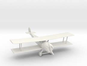 O Scale Biplane in White Natural Versatile Plastic