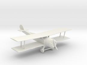 S Scale Biplane in White Natural Versatile Plastic
