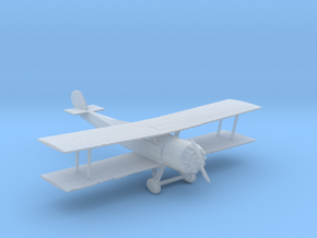S Scale Biplane in Smooth Fine Detail Plastic
