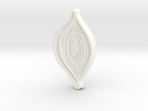 Spiroloculina depressa Model 5cm  in White Processed Versatile Plastic