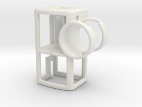 [DJI Osmo P] RØDE + 3.5 Adaptor Mount in White Natural Versatile Plastic