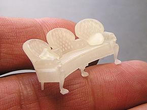 Nautilus Settee B31 - VL PART 3 in Smooth Fine Detail Plastic