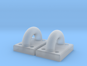 Model Boat Tie-Down loops - 10th scale in Smoothest Fine Detail Plastic