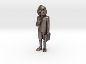 Flyboy Miniature in Polished Bronzed-Silver Steel