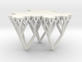 The Fludgeflake Table in White Natural Versatile Plastic