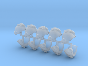 Dragon Skull Tártara Shoulder Pads L x10 in Smooth Fine Detail Plastic