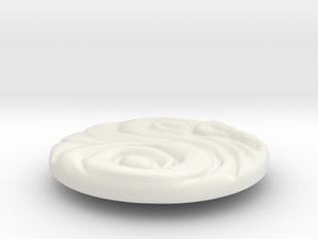 2019_pieza_01_with_ring 5.3cm in White Natural Versatile Plastic
