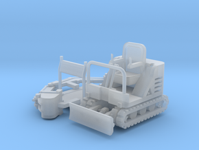 Mini-Excavator Parted 1-87 HO Scale in Smooth Fine Detail Plastic