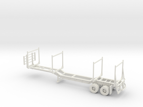 Timber Trailer Dropped Center With Wheels Fixed 1- in White Natural Versatile Plastic