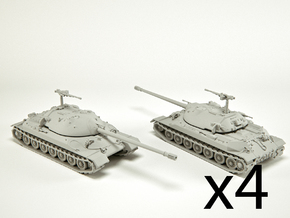 IS-7 Heavy Tank Scale: 1:285 (x4) in Smooth Fine Detail Plastic