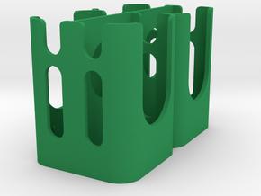 WCU4/ Preston Quad Hand Unit Battery Holder V1 in Green Processed Versatile Plastic