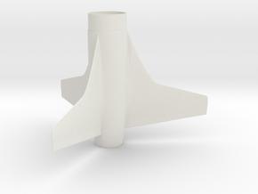 Aerobotix custom fin unit #1 in White Natural Versatile Plastic