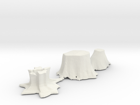 O Scale stumps 2 in White Natural Versatile Plastic