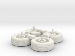 1/87 2013-2017 Tahoe Wheels in White Natural Versatile Plastic
