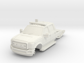 1/87 F550 4 Door Short Chassis in White Natural Versatile Plastic