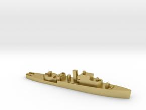 HMS Grimsby 1:2400 WW2 escort sloop in Natural Brass