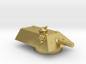 Tiger Heavy Grav Tank Turret 15mm in Natural Brass