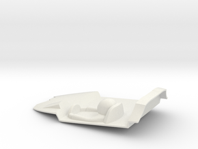 1:32 LTM Cockpit  (for LTM Slot Car model) in White Natural Versatile Plastic