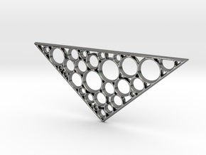 Triangular Statement Pendant in Polished Silver