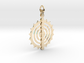 Bicycle_Chain_Sprocket_Pendant in 14K Yellow Gold