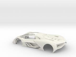 1:24 LTM Body (for Slot Car Model) in White Natural Versatile Plastic