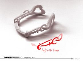 VENUSHAWN Bracelet in White Processed Versatile Plastic