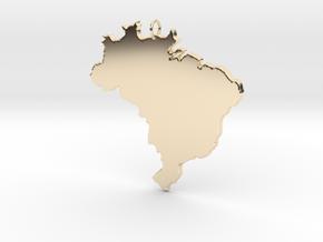 Brazil Pendant in 14K Yellow Gold: Medium