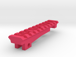 Top Picatinny Rail for Nerf ZombieStrike NailBiter in Pink Processed Versatile Plastic